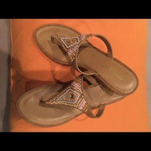 Nine West bead embellished sandals, size 7.5 M